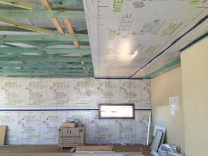 Intello airtight membrane on ceiling