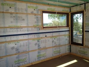 Intello Airtight membrane on internal wall
